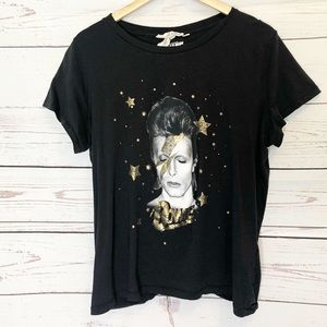 Bowie T Shirt by L.O.G.G. Black and Gold